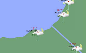 Triathlon1, Weather forecast from Hellenic National Meteorogical Service